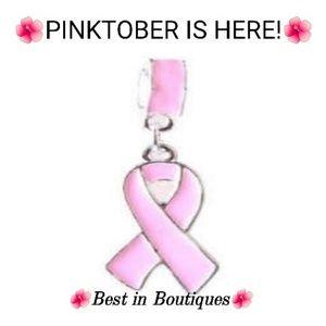 Pink ribbon charms gift box